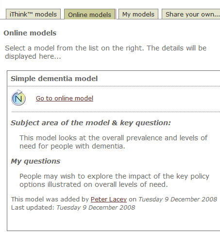 Sharing iThink and STELLA models on the web