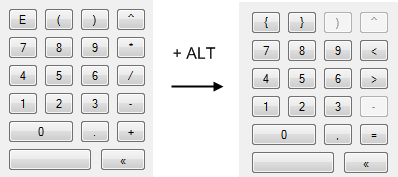 Key pad w/ ALT or Option key pressed