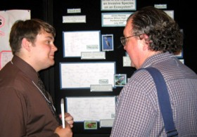 James Ranney presents during K-12 poster session